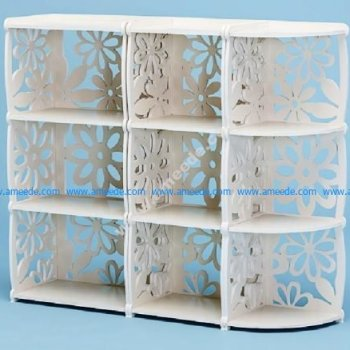Vector Laser Cut Decorative Shelf Bookcase
