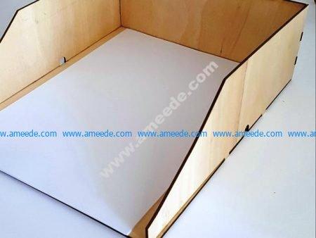 Vector Laser Cut Paper Tray A4