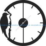 watch shaped of woodpecker