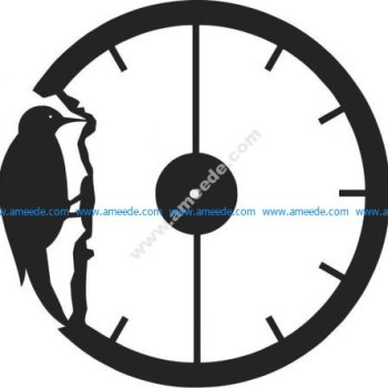 watch shaped of woodpecker