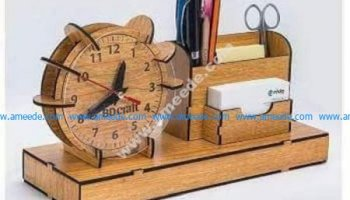 Wooden Clock Shaped Earth Amee House