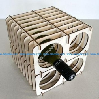 3D Flat Pack Wine Storage Rack