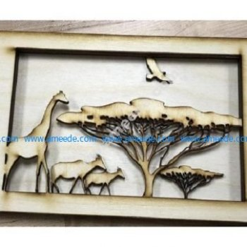 African Tunnel Book Laser Cut
