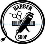 Barber hair cutting effect