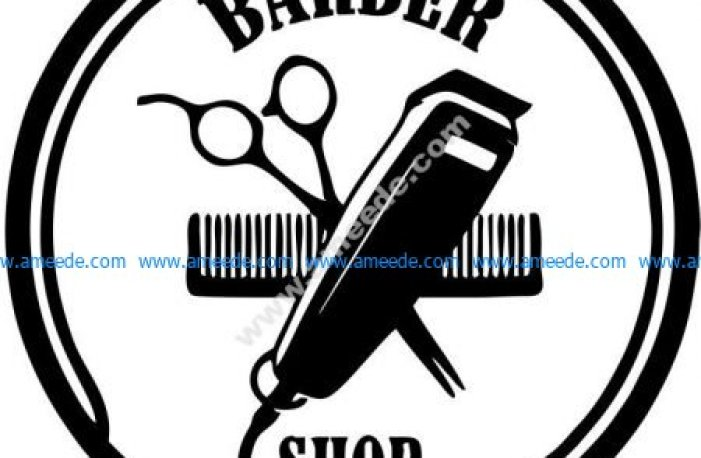 Barber hair cutting effect