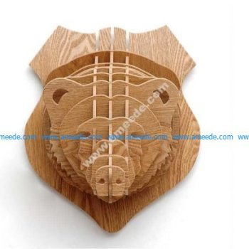 Bear Head 3D Puzzle Animal Head Wall Trophy