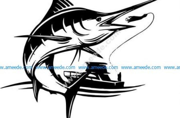 Boat fishing sword fish