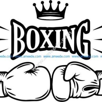 Boxing duel symbol