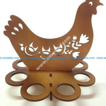 Easter Egg Tray Holder Stand Chicken