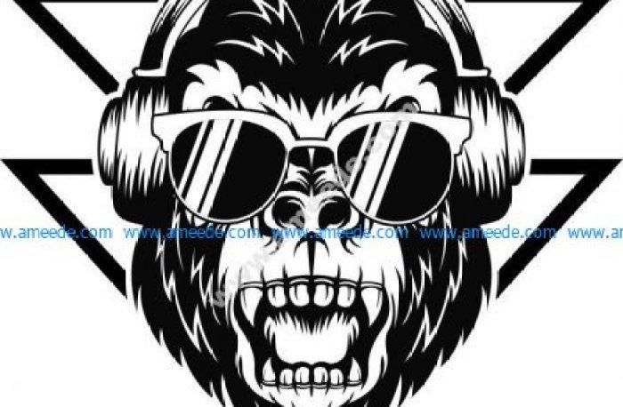 Gorilla Syntwave Print