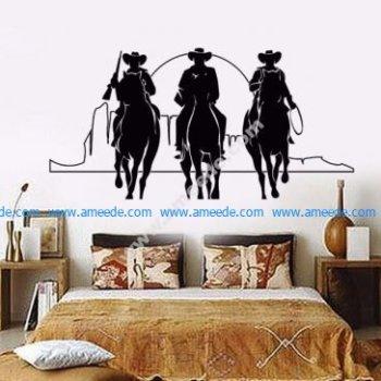 Home Decor Vinyl Wall Decal Western Cowboys