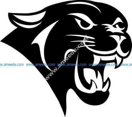 Power symbol of leopard