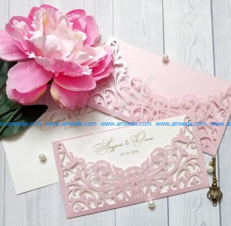 Sample laser cut wedding card