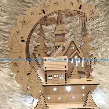 Sample laser cutting decorative table lamp