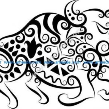 Vector pattern cow