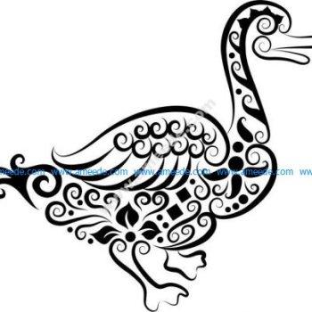 Vector pattern gourd duck