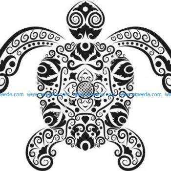 Vector pattern of sea turtles