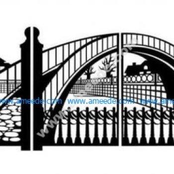 "gate for laser cutting subject ""Bridge"""