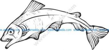 pattern of fish-shaped dance