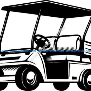 the car carrying golfers
