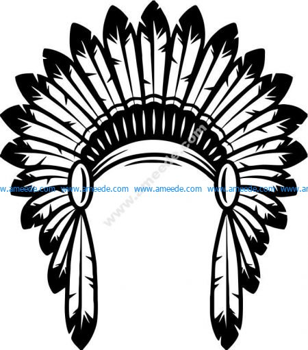 the hat of the Indian tribal chief