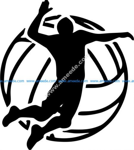vector sports volleyball icon