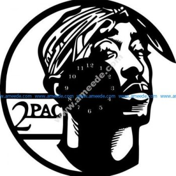 2PAC wall clock