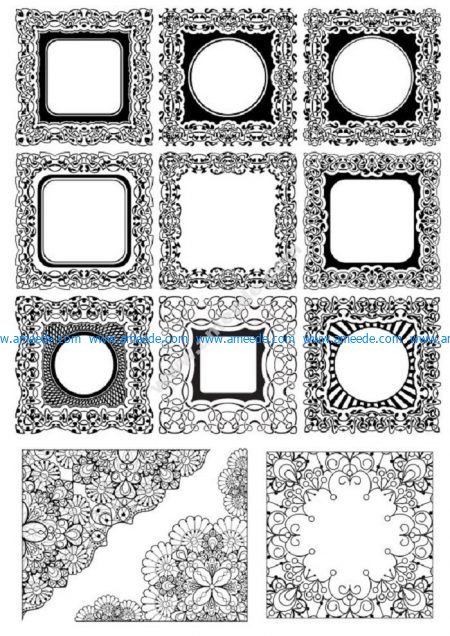 Abstract Floral Borders