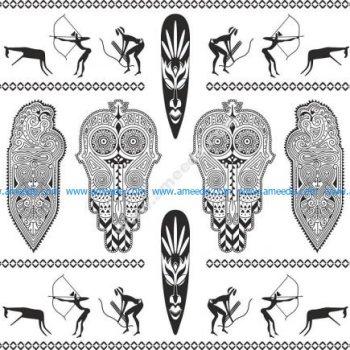 Africa Totem Vector Set