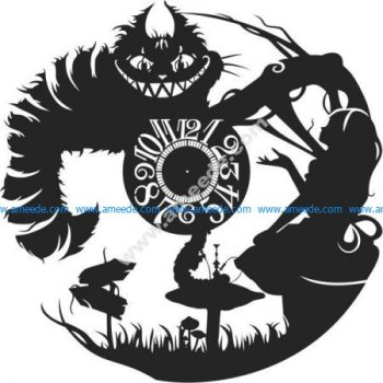 Alice Vinyl Wall Clock