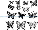 Butterfly Vector Art Set