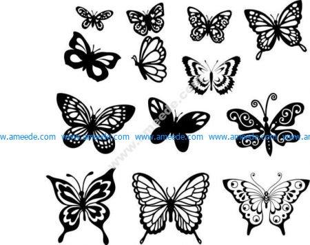 Butterfly Vector Art Set