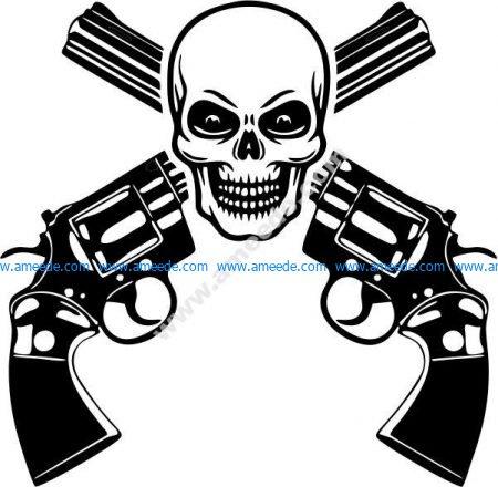 Dangerous shooting range icon