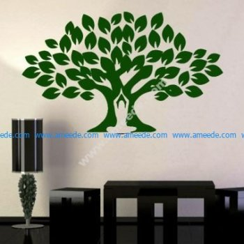 Decorate the living room with a Bodhi tree