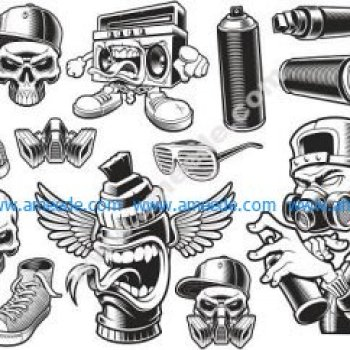 Graffiti Stickers Set