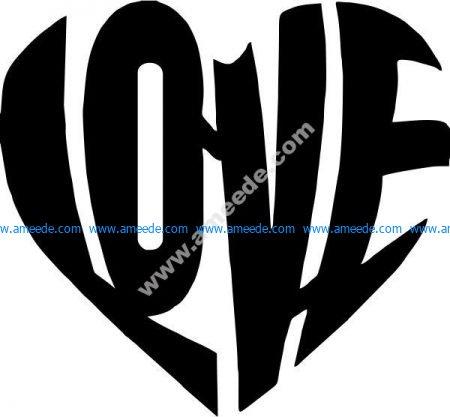 Heart shaped love symbol