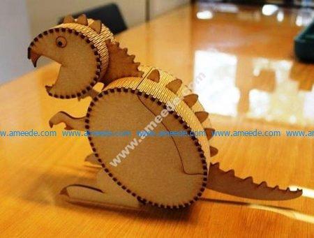 Laser Cut Wooden Box Dinosaur Template