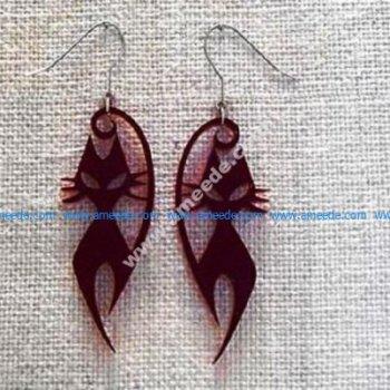 Two Cat Earrings Acrylic