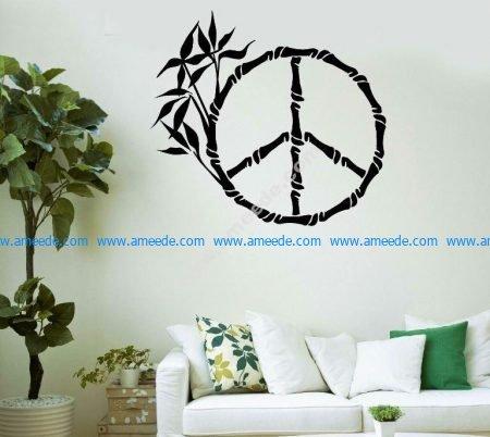 Living room decoration ice pattern bamboo tree