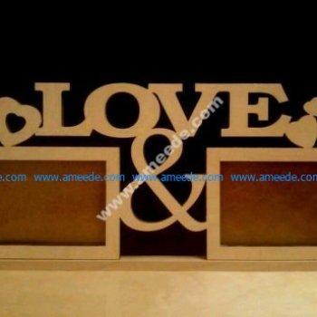 Plywood Decorative Love Frames