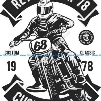 Retro Rider Print