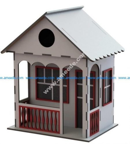 Small wooden house model