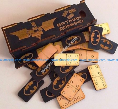 The domino cards batman symbol