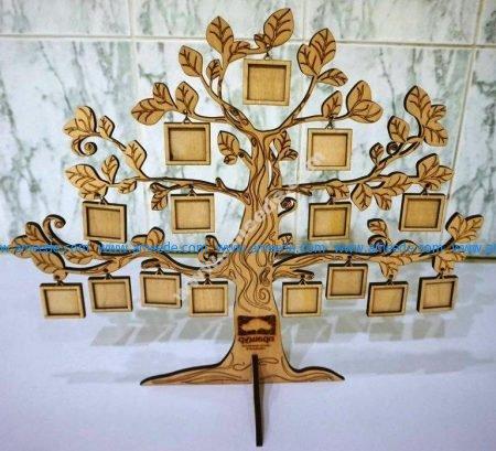 Tree Photo Frame Template