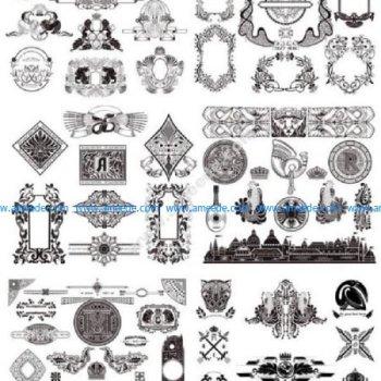 Vintage Decor Elements Set