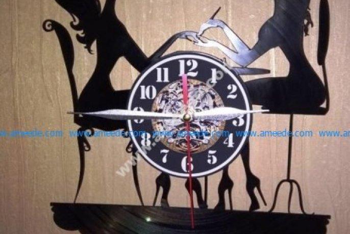 Wall clock girl shaped
