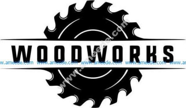 Wood processing industrial park symbol