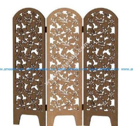 Wooden folding screen decor