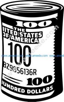 county cash 100 US dollars