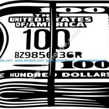 file of 100 US dollars